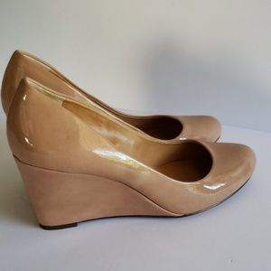 J. Crew Shoes - J.crew nude natural color wedges heels pumps 9